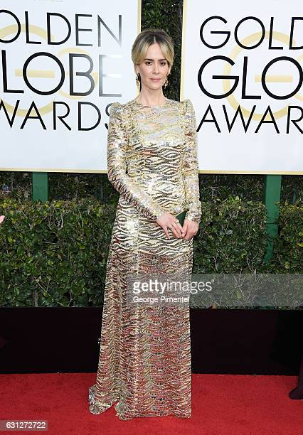 Actress Sarah Paulson attends the 74th Annual Golden Globe Awards held at The Beverly Hilton Hotel on January 8 2017 in Beverly Hills California