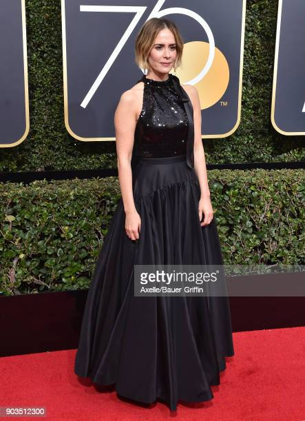714 Sarah Paulson Golden Globes Photos And Premium High Res Pictures Getty Images