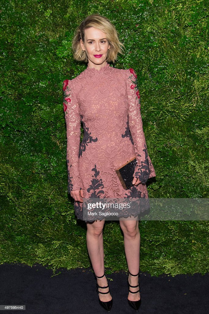 Actress Sarah Paulson attends the 8th Annual Museum Of Modern Art Film Benefit Honoring Cate Blanchett on November 17, 2015 in New York City.