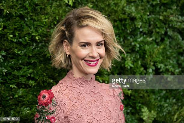 Actress Sarah Paulson attends the 8th Annual Museum Of Modern Art Film Benefit honoring Cate Blanchett at Museum of Modern Art on November 17, 2015...