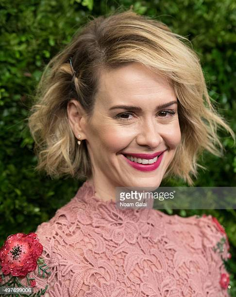 Actress Sarah Paulson attends the 8th Annual Museum Of Modern Art Film Benefit honoring Cate Blanchett at Museum of Modern Art on November 17 2015 in...
