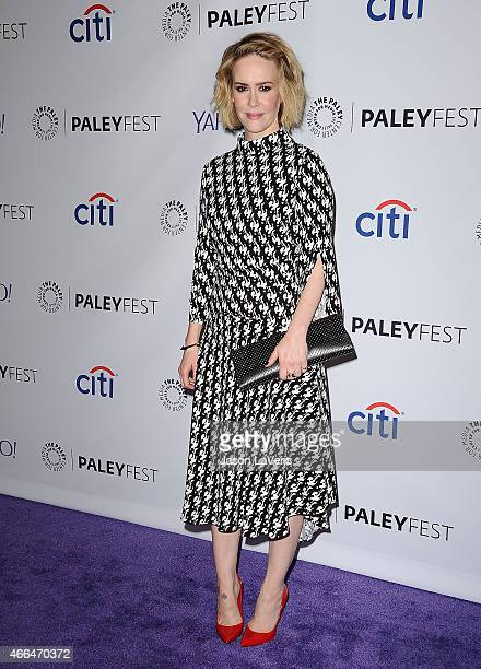 Actress Sarah Paulson attends the American Horror Story Freak Show event at the 32nd annual PaleyFest at Dolby Theatre on March 15 2015 in Hollywood...