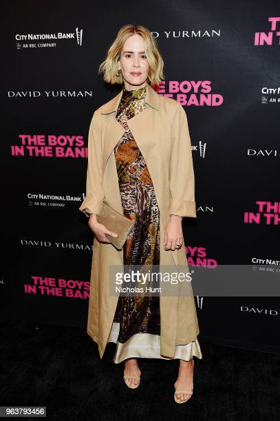 Actress Sarah Paulson attends the Boys In The Band 50th Anniversary Celebration at Booth Theatre on May 30 2018 in New York City