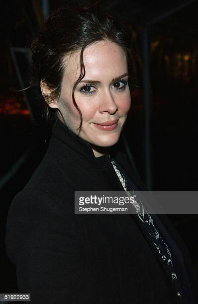 Actress Sarah Paulson attends the 'Carnivale' second season party at the Paramount Theater on January 6 2005 in Hollywood California