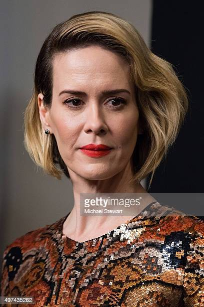 Actress Sarah Paulson attends the Carol New York premiere at Museum of Modern Art on November 16 2015 in New York City