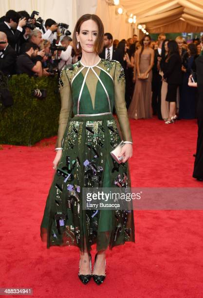 Actress Sarah Paulson attends the Charles James Beyond Fashion Costume Institute Gala at the Metropolitan Museum of Art on May 5 2014 in New York City