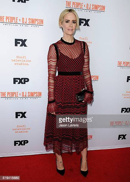 Actress Sarah Paulson attends the For Your Consideration event for FX's 'The People v OJ Simpson American Crime Story' at The Theatre at Ace Hotel on...