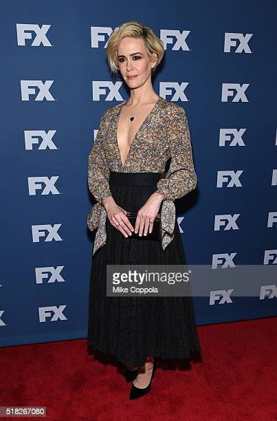 Actress Sarah Paulson attends the FX Networks Upfront screening of The People v OJ Simpson American Crime Story at AMC Empire 25 theater on March 30...