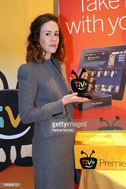 Actress Sarah Paulson attends the HBO Luxury Lounge in honor of the 70th Annual Golden Globe Awards at Four Seasons Hotel Los Angeles at Beverly...