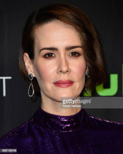 "Actress Sarah Paulson attends The Paley Center For Media's 34th Annual PaleyFest Los Angeles ""American Horror Story ""Roanoke"" screening and panel at..."