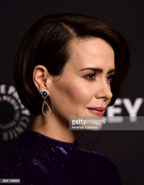 Actress Sarah Paulson attends The Paley Center For Media's 34th Annual PaleyFest Los Angeles 'American Horror Story Roanoke' screening and panel at...