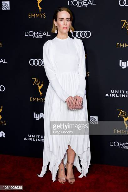 Actress Sarah Paulson attends the Television Academy Honors Emmy Nominated Performers Reception at Wallis Annenberg Center for the Performing Arts on...