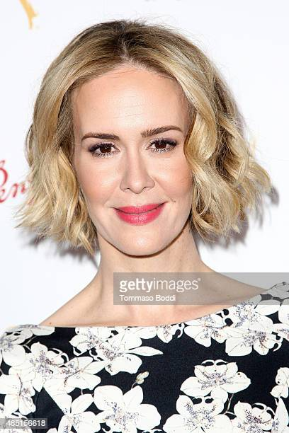 Actress Sarah Paulson attends the Television Academy's Performers Peer Group Hold Cocktail Reception To Celebrate 67th Emmy Awards held at Montage...