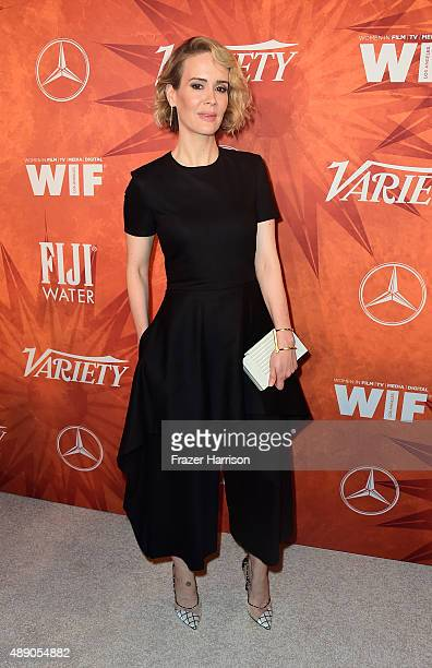 Actress Sarah Paulson attends the Variety and Women in Film Annual PreEmmy Celebration at Gracias Madre on September 18 2015 in West Hollywood...