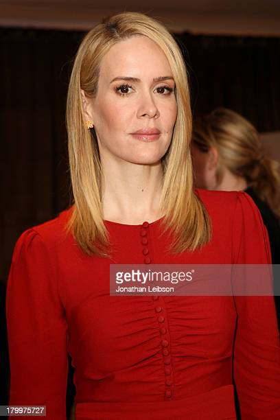 Actress Sarah Paulson attends the Variety Studio presented by Moroccanoil at Holt Renfrew during the 2013 Toronto International Film Festival on...