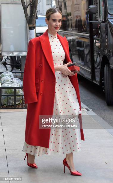 Actress Sarah Paulson is seen on April 04, 2019 in New York City.