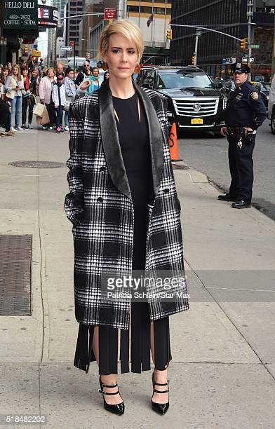 Actress Sarah Paulson is seen on March 31 2016 in New York City