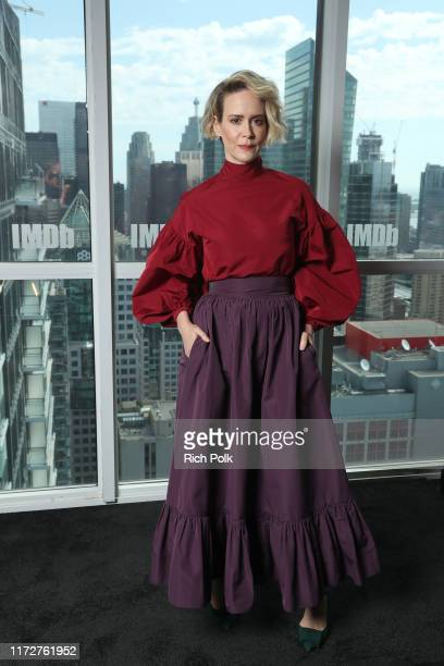 Actress Sarah Paulson of 'The Goldfinch' attend The IMDb Studio Presented By Intuit QuickBooks at Toronto 2019 at Bisha Hotel & Residences on...