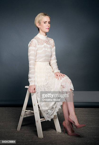 Actress Sarah Paulson of 'The People vs OJ Simpson' is photographed for Los Angeles Times on April 4 2016 in Los Angeles California CREDIT MUST READ...