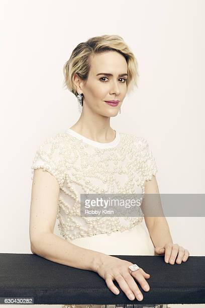 Actress Sarah Paulson poses for a portrait during the 2016 Critics Choice Awards on December 11 2016 in Santa Monica California