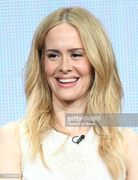 Actress Sarah Paulson speaks onstage during the 'American Horror Story Coven' panel discussion at the FX portion of the 2013 Summer Television...