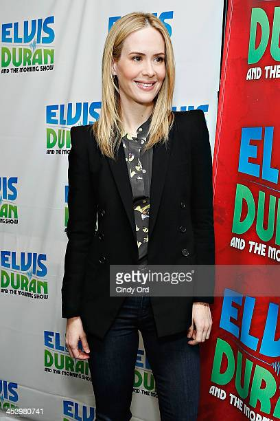 Actress Sarah Paulson visits the Elvis Duran Z100 Morning Show at Z100 Studio on December 6 2013 in New York City