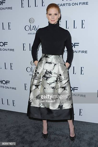 Actress Sarah Rafferty arrives at ELLE's 6th Annual Women In Television Dinner at Sunset Tower Hotel on January 20 2016 in West Hollywood California