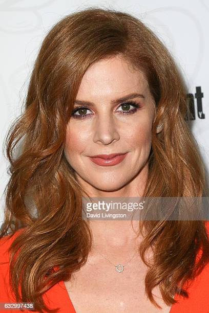 Actress Sarah Rafferty arrives at the Entertainment Weekly celebration honoring nominees for The Screen Actors Guild Awards at the Chateau Marmont on...