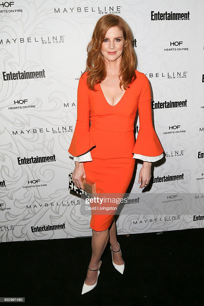 Actress Sarah Rafferty arrives at the Entertainment Weekly celebration honoring nominees for The Screen Actors Guild Awards at the Chateau Marmont on January 28, 2017 in Los Angeles, California.