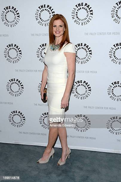 Actress Sarah Rafferty arrives at The Paley Center For Media Presents An Evening With 'Suits' MidSeason Premiere Screening And Panel at The Paley...