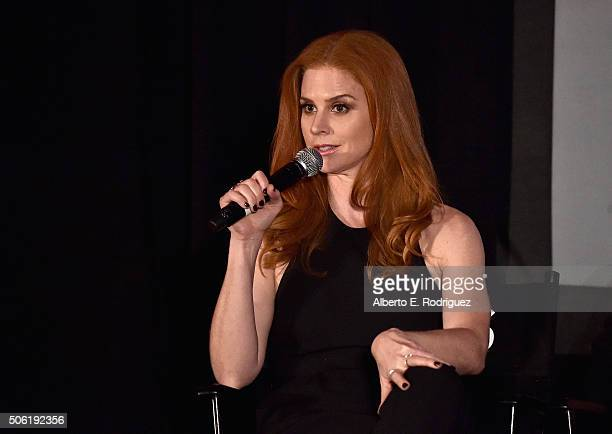 Actress Sarah Rafferty attends a QA following the premiere of USA Network's Suits Season 5 at Sheraton Los Angeles Downtown Hotel on January 21 2016...