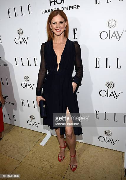 Actress Sarah Rafferty attends ELLE's Annual Women in Television Celebration on January 13 2015 at Sunset Tower in West Hollywood California...