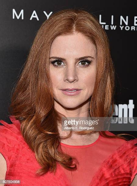 Actress Sarah Rafferty attends Entertainment Weekly's celebration honoring THe Screen Actors Guild presented by Maybeline at Chateau Marmont on...