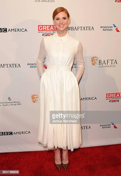 Actress Sarah Rafferty attends the BAFTA Los Angeles Awards Season Tea at Four Seasons Hotel Los Angeles at Beverly Hills on January 9 2016 in Los...