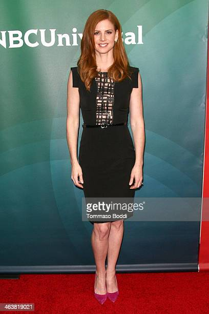Actress Sarah Rafferty attends the NBC/Universal 2014 TCA Winter Press Tour held at The Langham Huntington Hotel and Spa on January 19 2014 in...