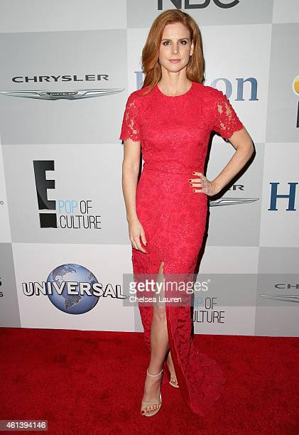 Actress Sarah Rafferty attends the NBCUniversal 2015 Golden Globe Awards Party sponsored by Chrysler at The Beverly Hilton Hotel on January 11 2015...