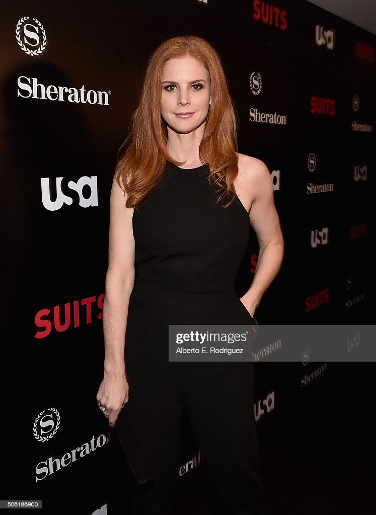 Actress Sarah Rafferty attends the premiere of USA Network's 'Suits' Season 5 at the Sheraton Los Angeles Downtown Hotel on January 21, 2016 in Los Angeles, California.