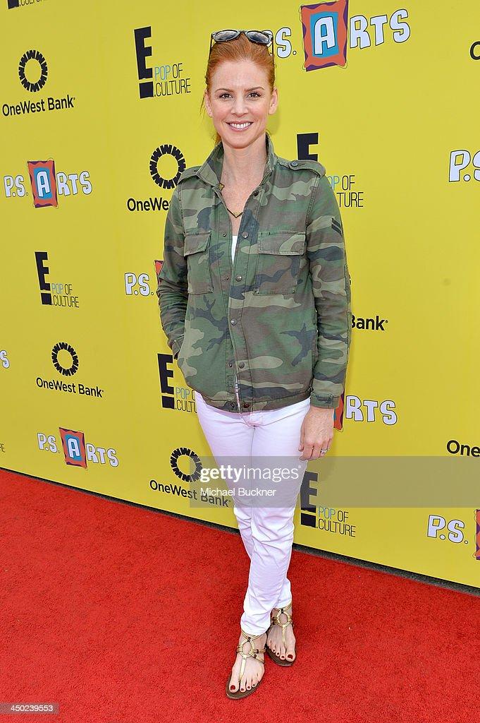 Actress Sarah Rafferty attends the P.S. Arts Express Yourself 2013 event held at Barker Hangar on November 17, 2013 in Santa Monica, California.