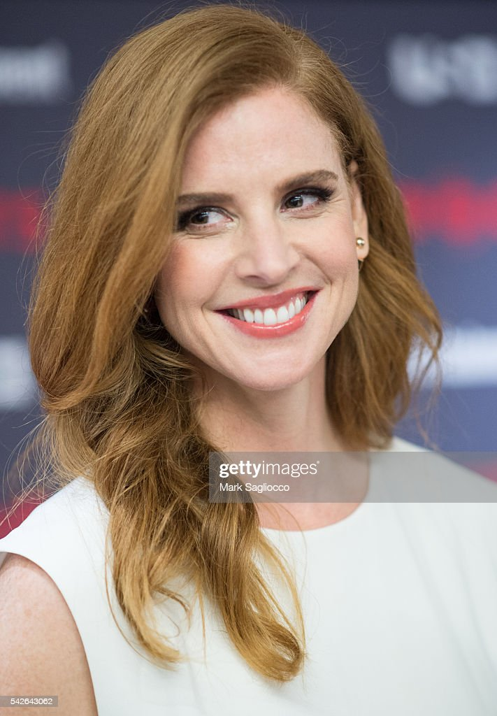 Actress Sarah Rafferty attends the 'Suits' Season 6 Screening & Panel at Entertainment Weekly Screening Room on June 23, 2016 in New York City.