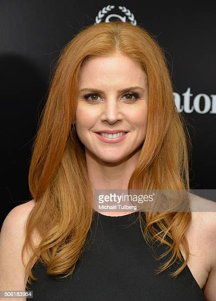 """Actress Sarah Rafferty attrends the premiere of USA Network's """"Suits"""" Season Five at Sheraton Los Angeles Downtown Hotel on January 21, 2016 in Los..."""