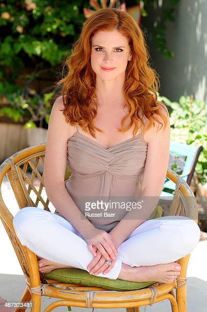 Actress Sarah Rafferty is photographed for Baby Couture on October 1 2013 in Santa Monica California PUBLISHED IMAGE