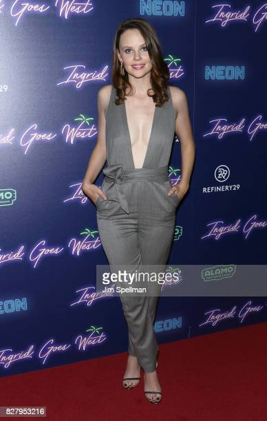 Actress Sarah Ramos attends The New York premiere of Ingrid Goes West hosted by Neon at Alamo Drafthouse Cinema on August 8 2017 in the Brooklyn...