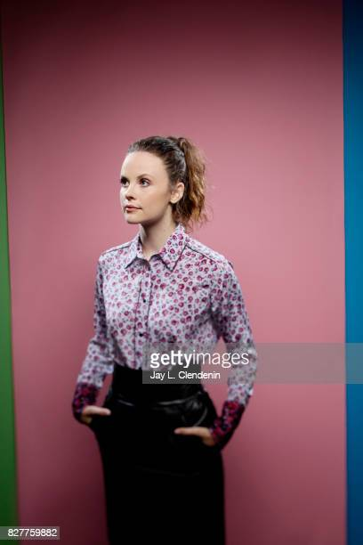 Actress Sarah Ramos from the television series Midnight Texas is photographed in the LA Times photo studio at ComicCon 2017 in San Diego CA on July...