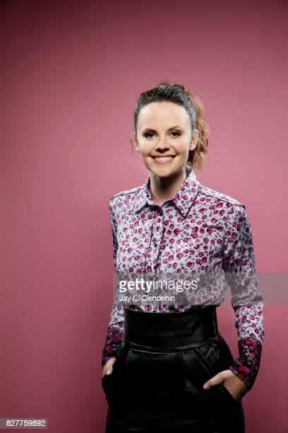 Actress Sarah Ramos from the television series 'Midnight Texas' is photographed in the LA Times photo studio at ComicCon 2017 in San Diego CA on July...