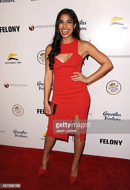 Actress Sarah Roberts attends the premiere of 'Felony' at Harmony Gold Theatre on October 16 2014 in Los Angeles California