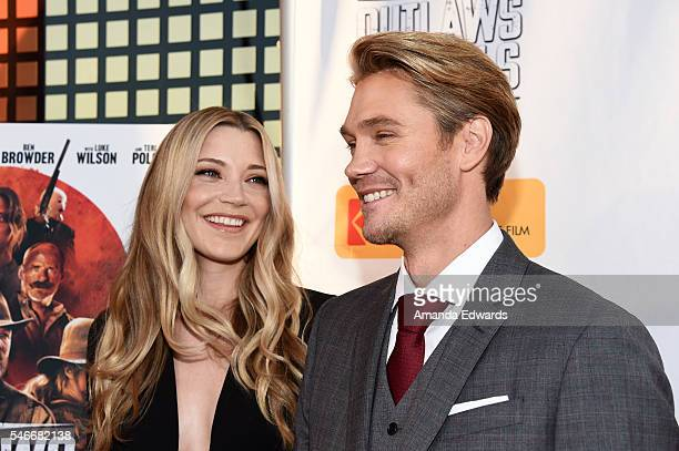 Actress Sarah Roemer and actor Chad Michael Murray arrive at the premiere of Momentum Pictures' 'Outlaws and Angels' at the Ahrya Fine Arts Movie...
