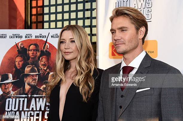 Actress Sarah Roemer and actor Chad Michael Murray arrive at the premiere of Momentum Pictures' Outlaws and Angels at the Ahrya Fine Arts Movie...