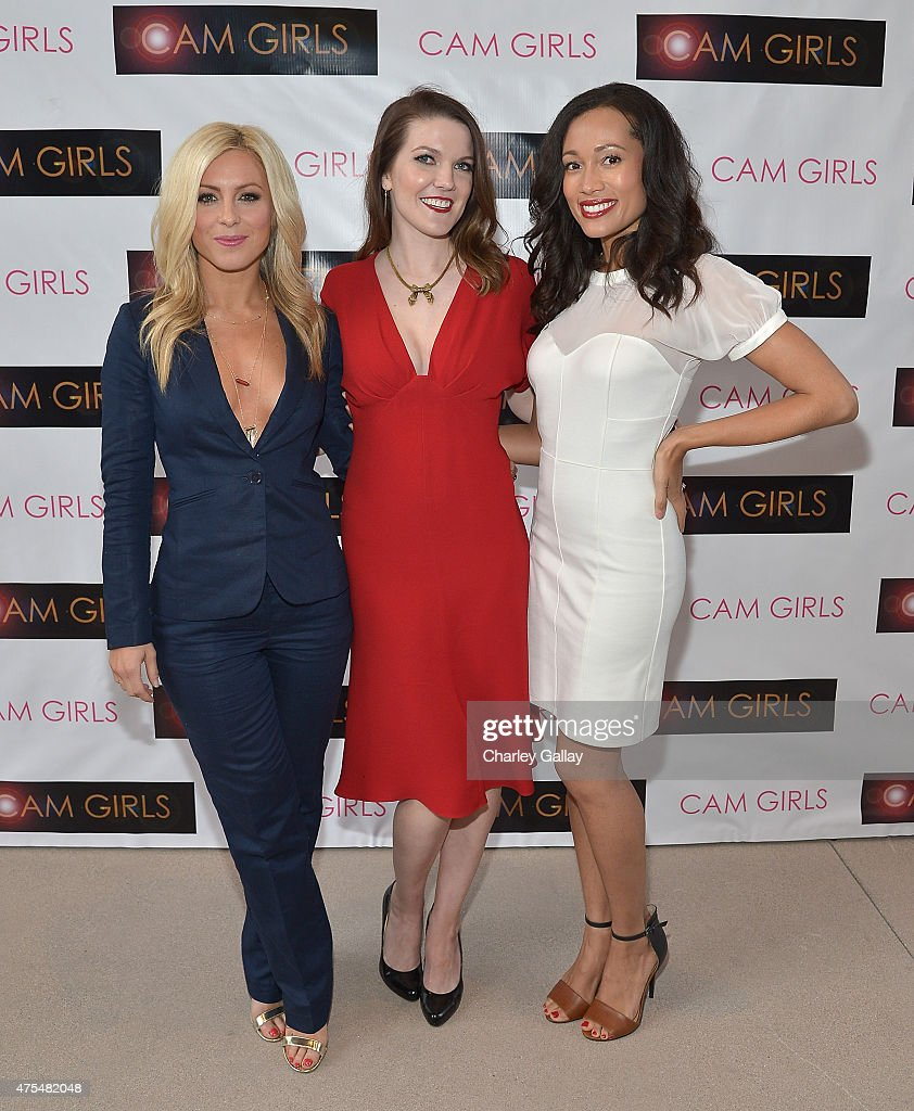 Actress Sarah Schreiber, actress and exeutive producer Kate Bond and actress Annie Ruby attend the screening party for the new original web series, 'CAM GIRLS' at United Talent Agency on May 31, 2015 in Beverly Hills, California.