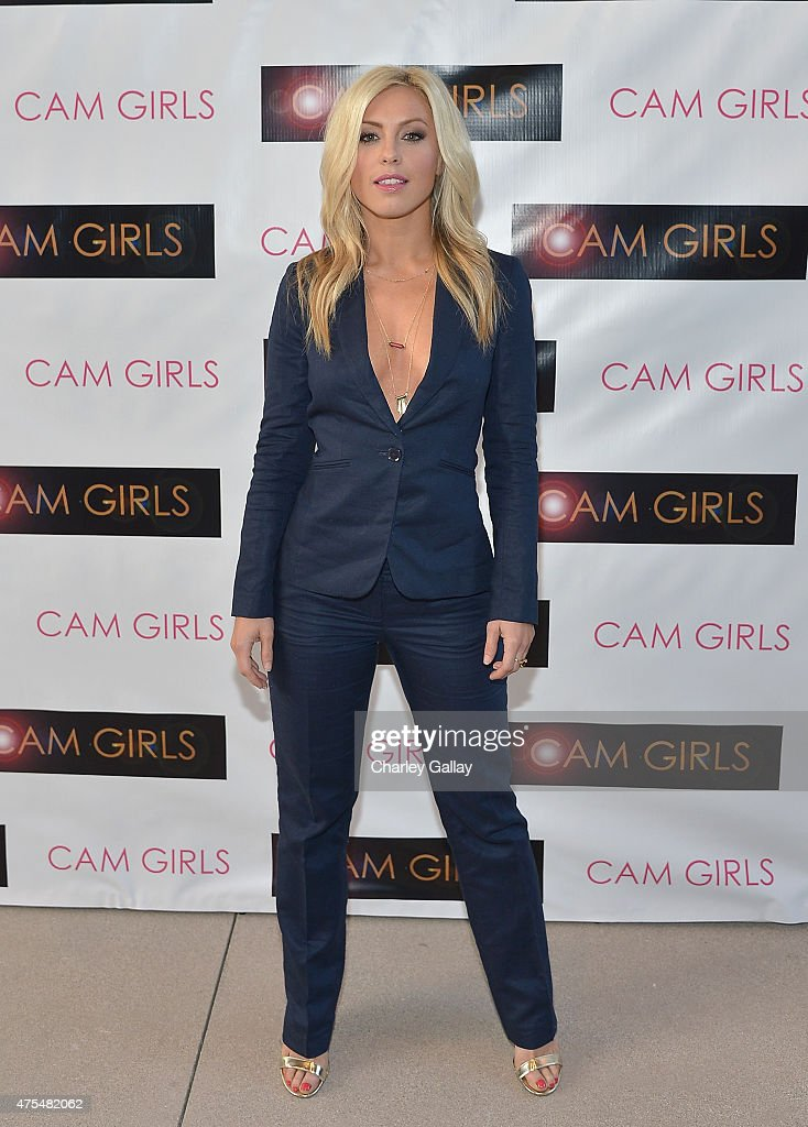 Actress Sarah Schreiber attends the screening party for the new original web series, 'CAM GIRLS' at United Talent Agency on May 31, 2015 in Beverly Hills, California.