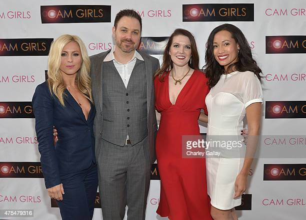 Actress Sarah Schreiber director and executive producer David Slack actress and exeutive producer Kate Bond and actress Annie Ruby attend the...